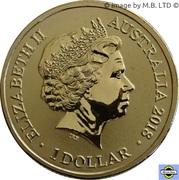 1 Dollar - Elizabeth II (Jeux olympiques d'hiver Pyeongchang 2018 - équipe olympique australienne) – avers