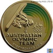 1 Dollar - Elizabeth II (Jeux olympiques d'hiver Pyeongchang 2018 - équipe olympique australienne) – revers