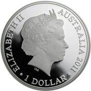 1 dollar Elizabeth II (4e effigie, kangourou au coucher de soleil, 1 oz) -  avers