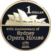 1 Dollar - Elizabeth II (4th Portrait - Sydney Opera House) -  revers