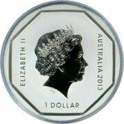 1 Dollar - Elizabeth II (Kangaroo Road Sign) -  avers