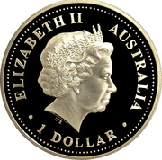 1 Dollar - Elizabeth II (4th Portrait - Aurora Australis) -  avers