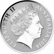 1 Dollar - Elizabeth II (4e portrait; Kangaroo) -  avers