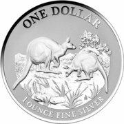 1 Dollar - Elizabeth II (4e portrait; Kangaroo) -  revers