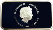 1 Dollar - Elizabeth II (4th Portrait -... I love her jewel sea) – avers