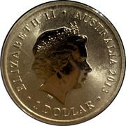 1 Dollar - Elizabeth II (4th Portrait - Queen Elizabeth II 60th Anniversary) -  avers