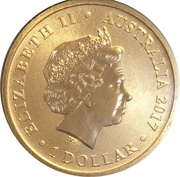 1 Dollar - Elizabeth II (4th Portrait - Year of the Rooster) -  avers