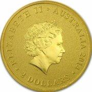 2 Dollars - Elizabeth II (kangaroo) -  avers
