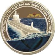 1 Dollar - Elizabeth II (4th Portrait - Submarine Service) -  revers