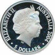 5 Dollars - Elizabeth II (De Sydney 2000 à Athènes 2004) -  avers
