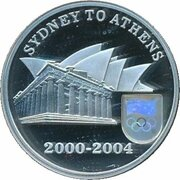 5 Dollars - Elizabeth II (De Sydney 2000 à Athènes 2004) -  revers