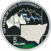 5 Dollars - Elizabeth II (4th Portrait - 150 Years of State Government New South Wales - Silver Proof) -  revers