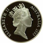 10 Dollars - Elizabeth II (Birds of Australia Series - Cockatoo; Piedfort) -  avers