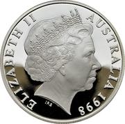 10 Dollars - Elizabeth II 4th Portrait - Hairy Nosed Wombat - Piedfort -  avers
