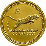 100 Dollars - Elizabeth II (Year of the Tiger) -  revers