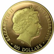 100 Dollars - Elizabeth II (4th Portrait - Summer Olympics - Gold Proof) -  avers