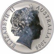 1 dollar Elizabeth II (4e effigie, kangourou, argent) -  avers