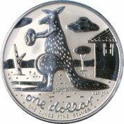 1 dollar Elizabeth II (4e effigie, kangourou, argent) -  revers