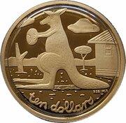 10 Dollars - Elizabeth II (4th Portrait - Mombassa Kangaroo - Gold Proof) -  revers