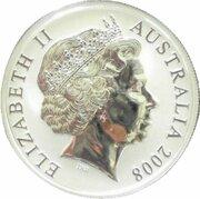 1 Dollar - Elizabeth II (4th Portrait - Mombassa Kangaroo - Silver Gilded Proof) -  avers