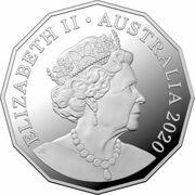 50 Cents - Elizabeth II (6th Portrait - Afghan Cameleers - Silver Proof) – avers