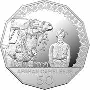 50 Cents - Elizabeth II (6th Portrait - Afghan Cameleers - Silver Proof) – revers