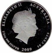 50 Cents - Elizabeth II (Leafy Sea Dragon) – avers