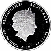 50 Cents - Elizabeth II (Moray Eel) – avers