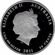 50 Cents - Elizabeth II (Hawksbill Turtle) – avers
