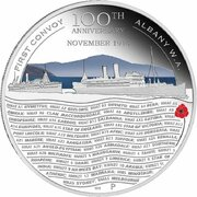 50 Cents - Elizabeth II (ANZAC Spirit 100th Anniversary Coin Series – First Convoy) -  revers