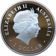 1 Dollar - Elizabeth II (Millénaire) – avers