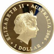 1 Dollar - Elizabeth II (4th Portrait - Figures of Note - Kingsford Smith & Hargrave) -  avers