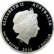 1 Dollar - Elizabeth II (Croix Rouge australienne) -  avers