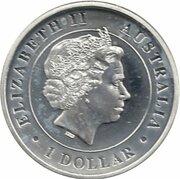 1 Dollar - Elizabeth II (4e Portrait; Araignée à toile-entonnoir australienne) -  avers