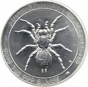 1 Dollar - Elizabeth II (4e Portrait; Araignée à toile-entonnoir australienne) -  revers