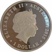 1 Dollar - Elizabeth II (4th Portrait - Dinosaur - Leaellynasaura) -  avers