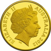 20 Cents - Elizabeth II (4th Portrait - Australian Miniature Money Gold Proof -  avers