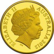 50 Cents - Elizabeth II (4th Portrait - Australian Miniature Money Gold Proof) -  avers