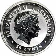 "50 Cents - Elizabeth II (""Lunar Year Series"" Silver Bullion Coinage) – avers"