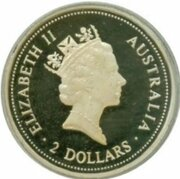 2 Dollars - Elizabeth II (Australian Kookaburra - Sovereign of King Edward VII,) -  avers