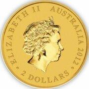 2 Dollars - Elizabeth II (4th Portrait - Mini Roo - Gold Bullion Coin) -  avers