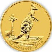 2 Dollars - Elizabeth II (4th Portrait - Mini Roo - Gold Bullion Coin) -  revers