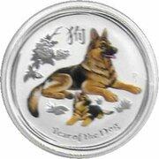 50 Cents - Elizabeth II (Année du chien) – revers