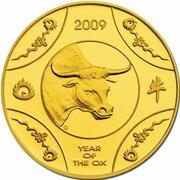 10 Dollars - Elizabeth II (4th Portrait - Year of the Ox - Gold Proof) -  revers