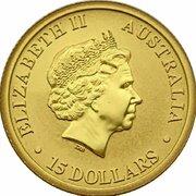 15 Dollars - Elizabeth II (Kangaroo) -  avers