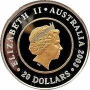 20 Dollars - Elizabeth II (4th portrait; Golden Jubilee Coronation) -  avers