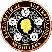 50 Dollars - Elizabeth II (4th portrait; Commonwealth Games 2006) -  avers