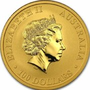100 Dollars - Elizabeth II (4th Portrait - Kangaroo - Gold Bullion Coin) -  avers