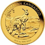 100 Dollars - Elizabeth II (4th Portrait - Kangaroo - Gold Bullion Coin) -  revers