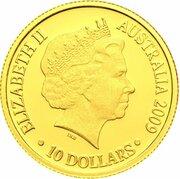 10 Dollars - Elizabeth II (4th Portrait - Year of the Ox - Gold Proof) -  avers
